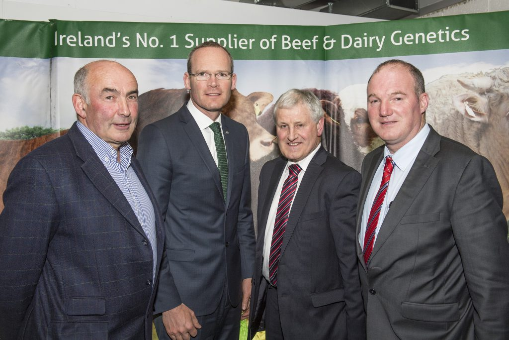 Pictured at the official opening of the new state of the art laboratory at the National Cattle Breeding Centre in Naas, Co Kildare are Tom Kelly, Chairman, Progressive Genetics, Simon Coveney, Minister for Agriculture, Food & Marine, Vincent Gorman, Chairman, NCBC & Donal Buckley, Chairman, Munster Cattle Breeding Group. Photo O'Gorman Photography.