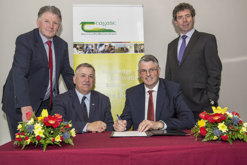 Padraig Gibbons, Teagasc Authority Member, Professor Gerry Boyle, Director Teagasc, Jim Bergin, CEO GII, and Liam Herlihy, Chairman, Glanbia. Photo O'Gorman Photography