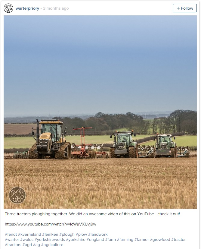 Warter priory ploughing