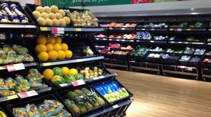 We're spending 14% of our grocery spend on fruit and vegetables