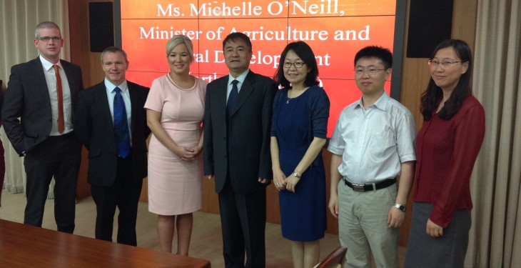 'China impressed with the North's standard of pork'