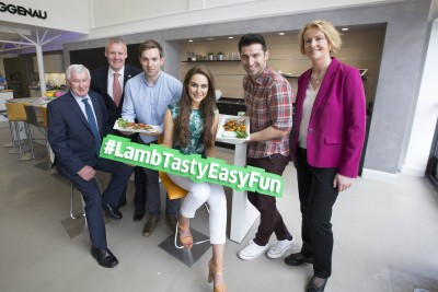 Pictured at the launch of the campaign are (from left to right) John Lynskey, IFA National Sheep Committee Chairman; Declan Fennell, Bord Bia; sports nutritionist and food blogger Daniel Davey; food blogger Roz Purcell; chef Stuart O'Keeffe and Teresa Brophy, Bord Bia