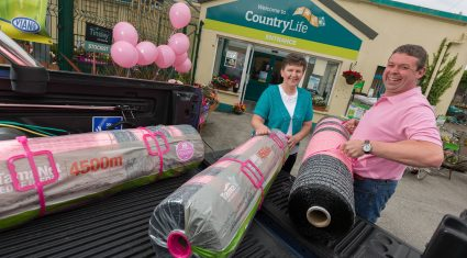 Glanbia sells pink netwrap to raise cancer awareness