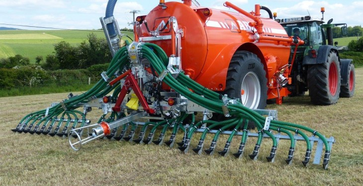 Nitrogen losses affected by slurry application method