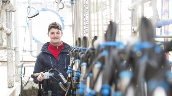 Only 22 and plans to be milking 275 cows in Co. Galway