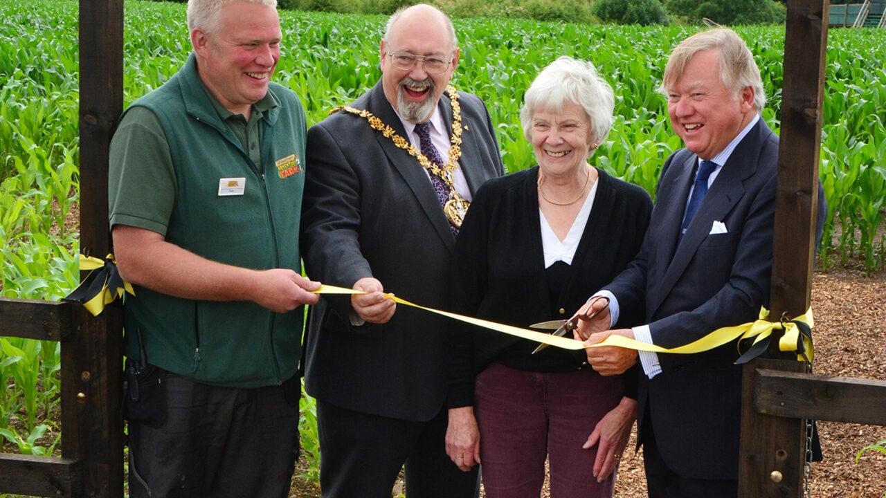 JCB celebrates 70 years with a giant maize maze