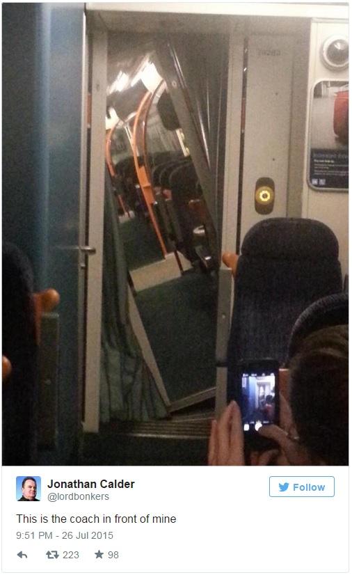 UK train hits cows