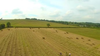 Video: Baling hay for the Aga Khan in Laois