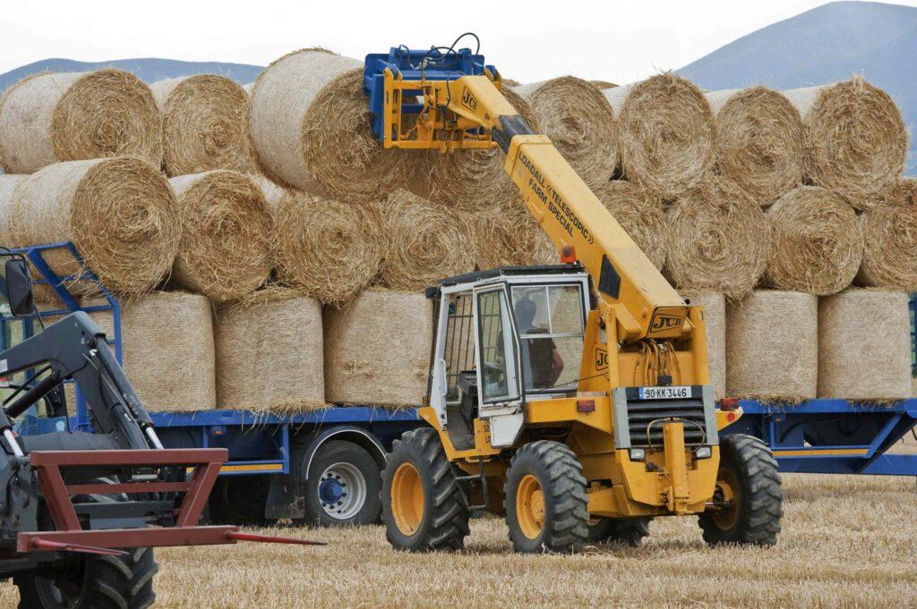 Loading barley straw bales. Photo O'Gorman Photography.