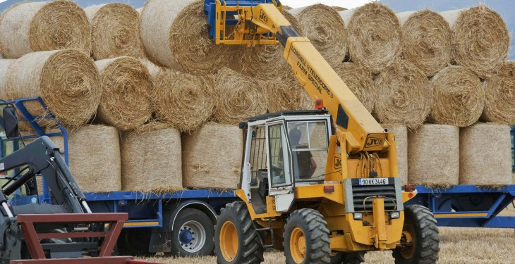 Straw prices ranging from €7-15/bale