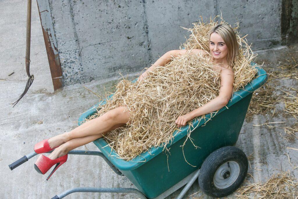 Aine O' Callaghan in the Wheelbarrow