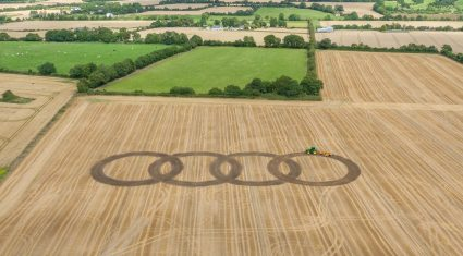 Video: Audi makes crop marks at the Ploughing