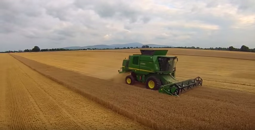 Video: Handsfree spring barley harvesting in Carlow