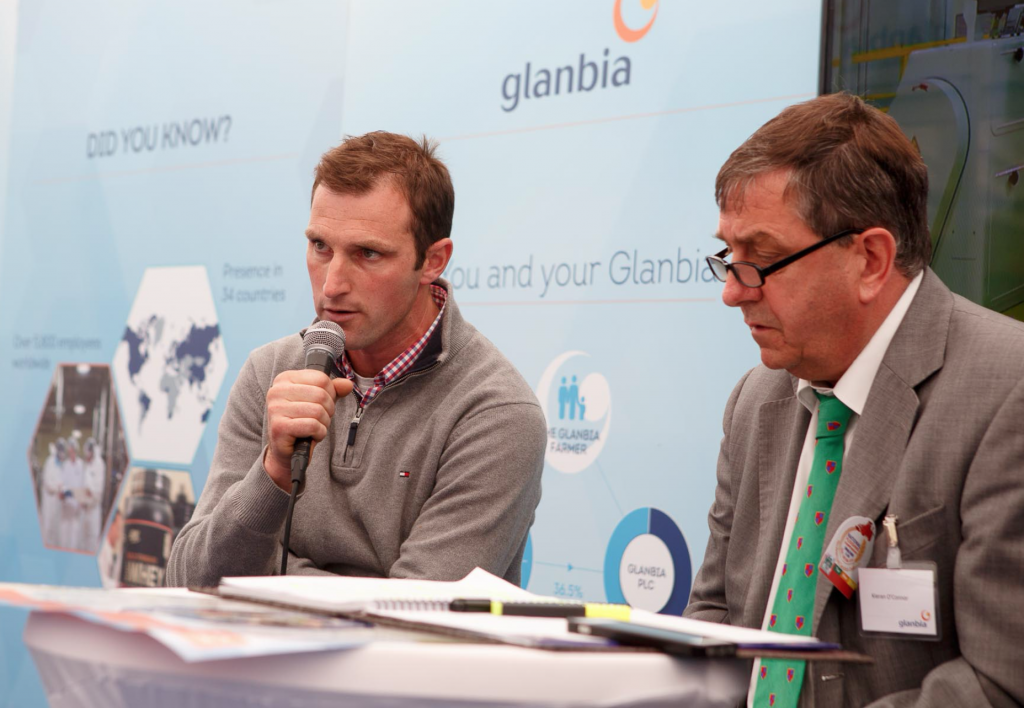 Cork farmer Shane Fitzgerald with Kieran O'Connor of Glanbia.