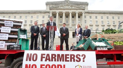 Ulster Farmers' Union claims 500 turnout for Stormont protest