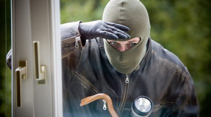 Burglaries are more likely in the east of the country