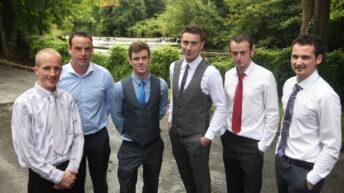 John Tully, Thomas O'Connor, Jonathan Marry, PJ O'Keeffe, Graham Grothier and Garry Kinsella
