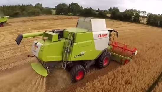 Watch great drone footage as gluten-free oat harvest comes to a close