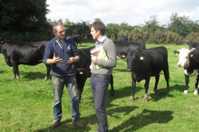 Pictured is Joseph Farrell from Castledermot, Co. Kildare with Joe Burke, Beef and Livestock Manager, Bord Bia