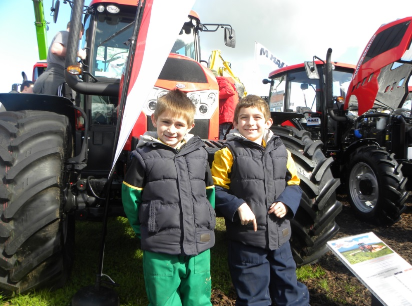 Tomas Arthur and Mikey Arthur at the Zetor stand at the Ploughing