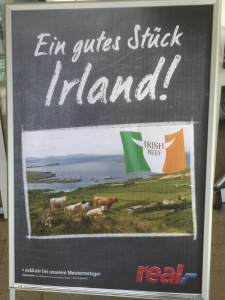 Irish promotion outside German supermarket
