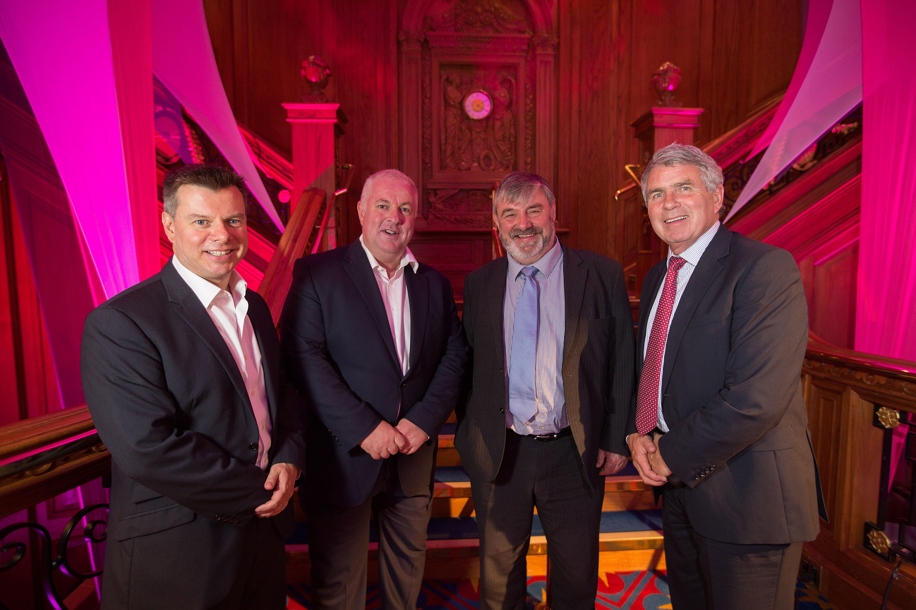 Steve Orr, Director, NISP, Greg McDaid from Fujitsu with Norman Apsley, Chief Executive Officer at NISP and Dick Milliken, Chairman, NISP