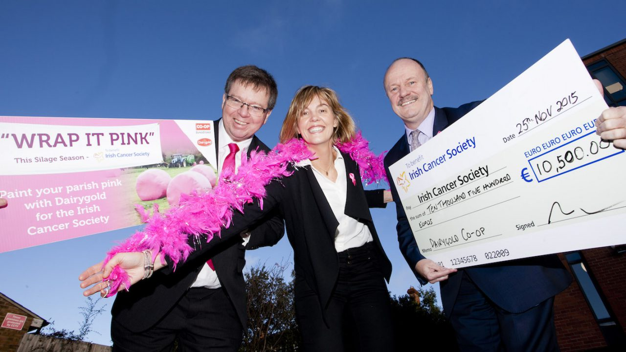 Dairygold's 'wrap it pink' campaign raises over €10,000 for cancer awareness