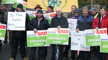 IFA protest accuses Glanbia of 'short-changing' tillage farmers