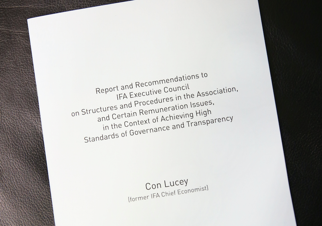Lucey reforms to be implemented by IFA within 12 months