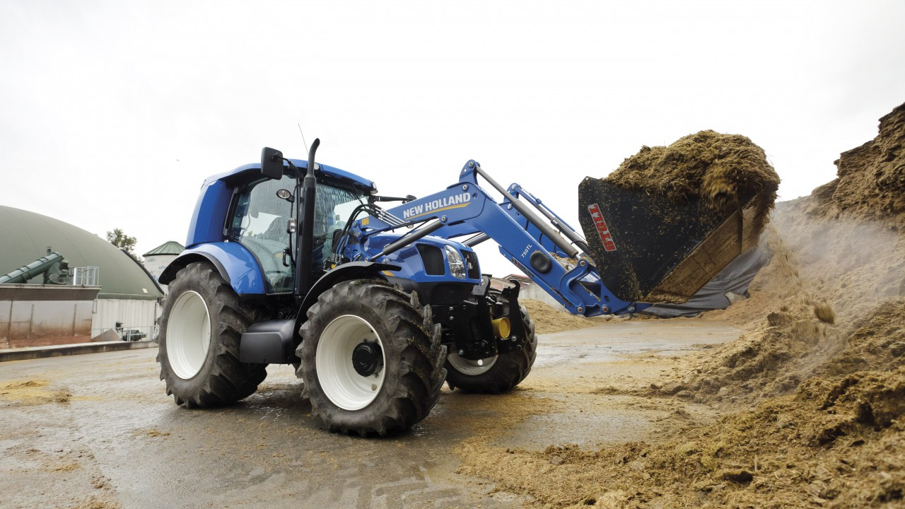 Watch this video of New Holland's methane-powered tractor