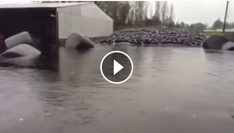 RTE capture terrible footage of an almost fully submerged farm yard in Galway