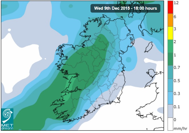 More flooding expected as yellow rainfall warning is issued – Met Eireann