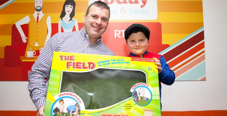 The Late Late Toy Show's rapping farmer has been reunited with his field!