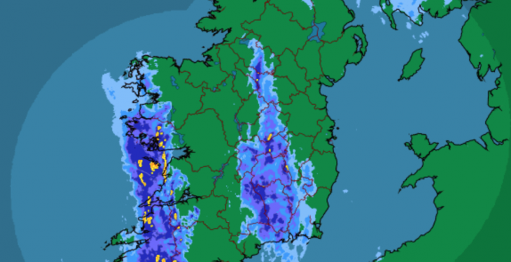 Met Eireann Status Yellow weather warning in place as rain set to continue
