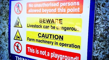 Cross compliance and farm safety should be formally linked