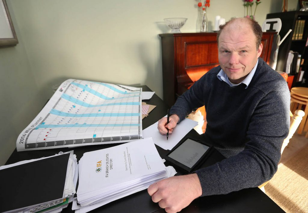 Henry Burns setting out his agenda for his campaign. Pic : Lorraine O'Sullivan