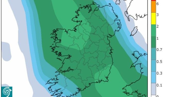 Widespread rain on the way as Met Eireann issues rainfall warning