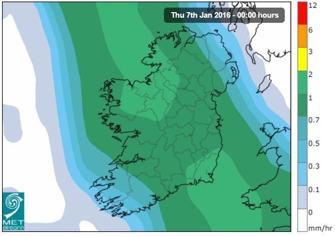 Widespread rain on the way as Met Eireann issues rainfall warning