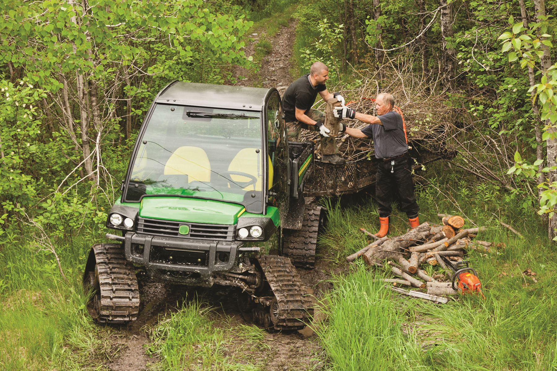 John Deere Gator on Camso UTV T4S tracks