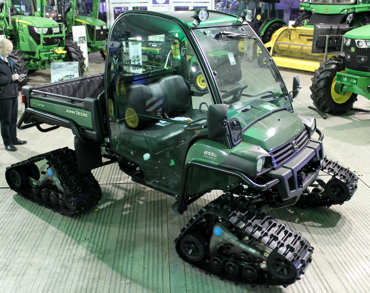 John Deere XUV 855D Gator on tracks at LAMMA 2016