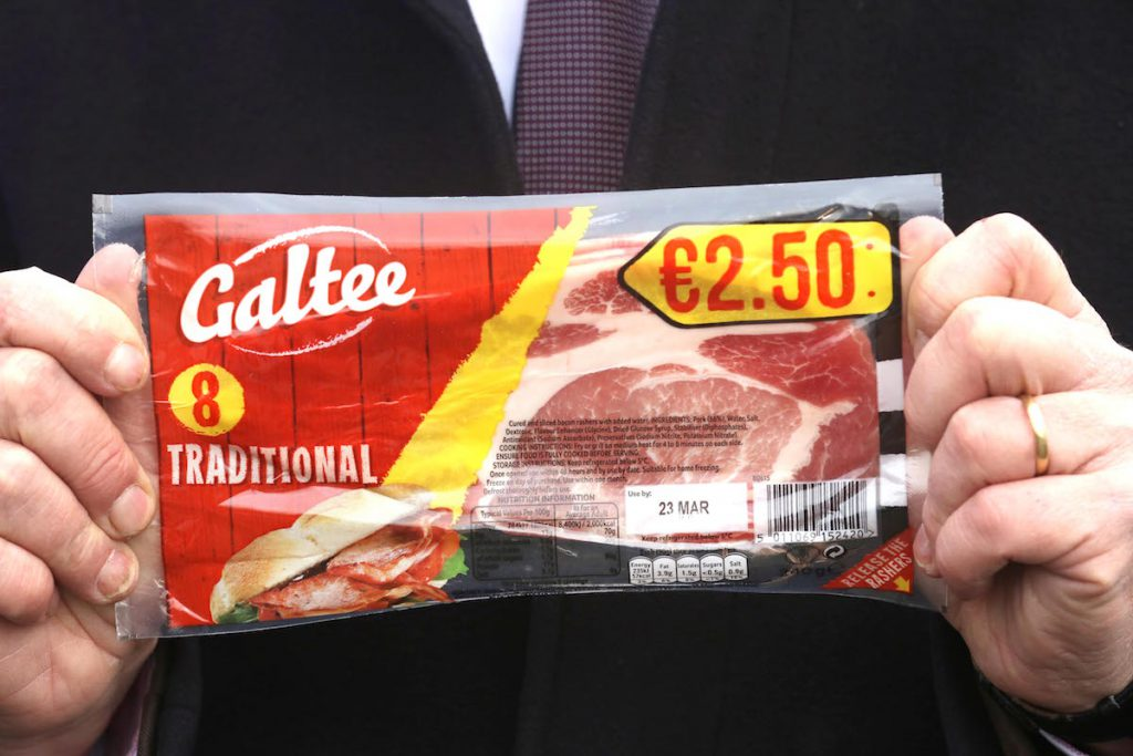 Galtee rashers with no Bord Bia Quality Assurance logo. Picture: Finbarr O'Rourke