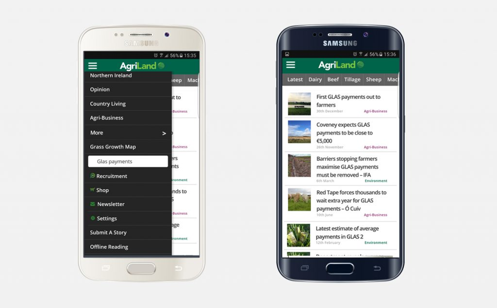 You can now search for additional content on Agriland straight from our app too!