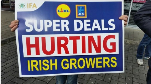 Lidl and Aldi accused of 'gross hypocrisy' at IFA vegetable protest