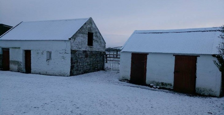 Pics: Snow covered farms across the country this morning