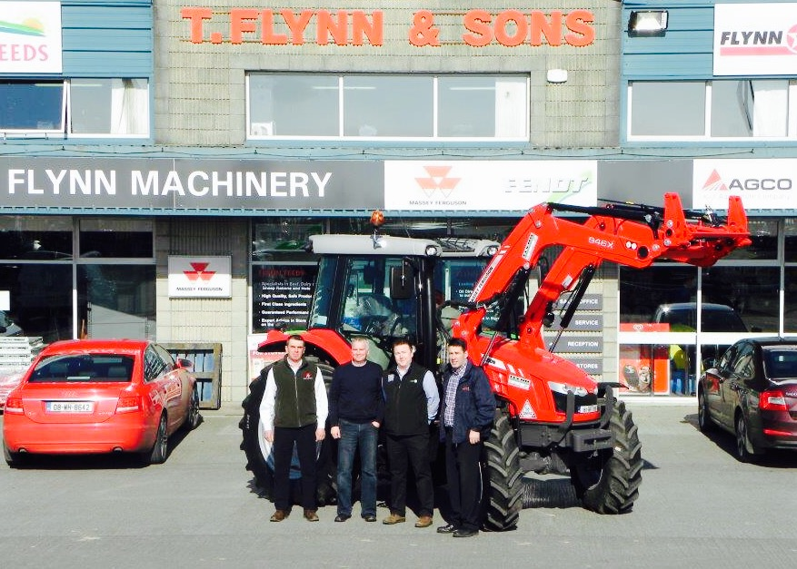 Here's Michael Picking up his tractor from Flynn Machinery in Mullingar
