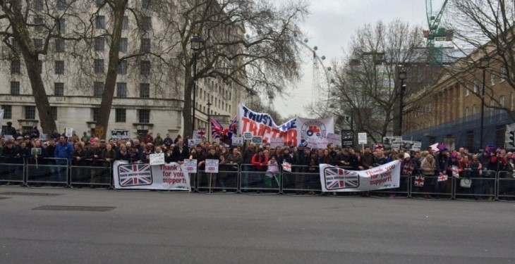 Pics: UK farmers take to the streets of London to protest