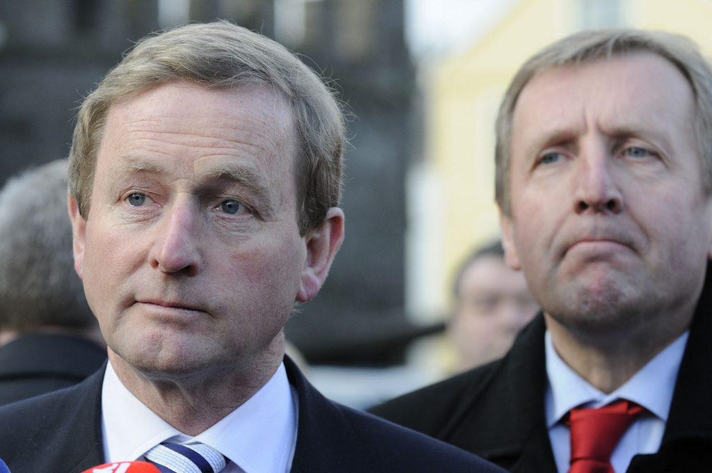 Fine Gael Leader Enda Kenny and Minister Michael Creed