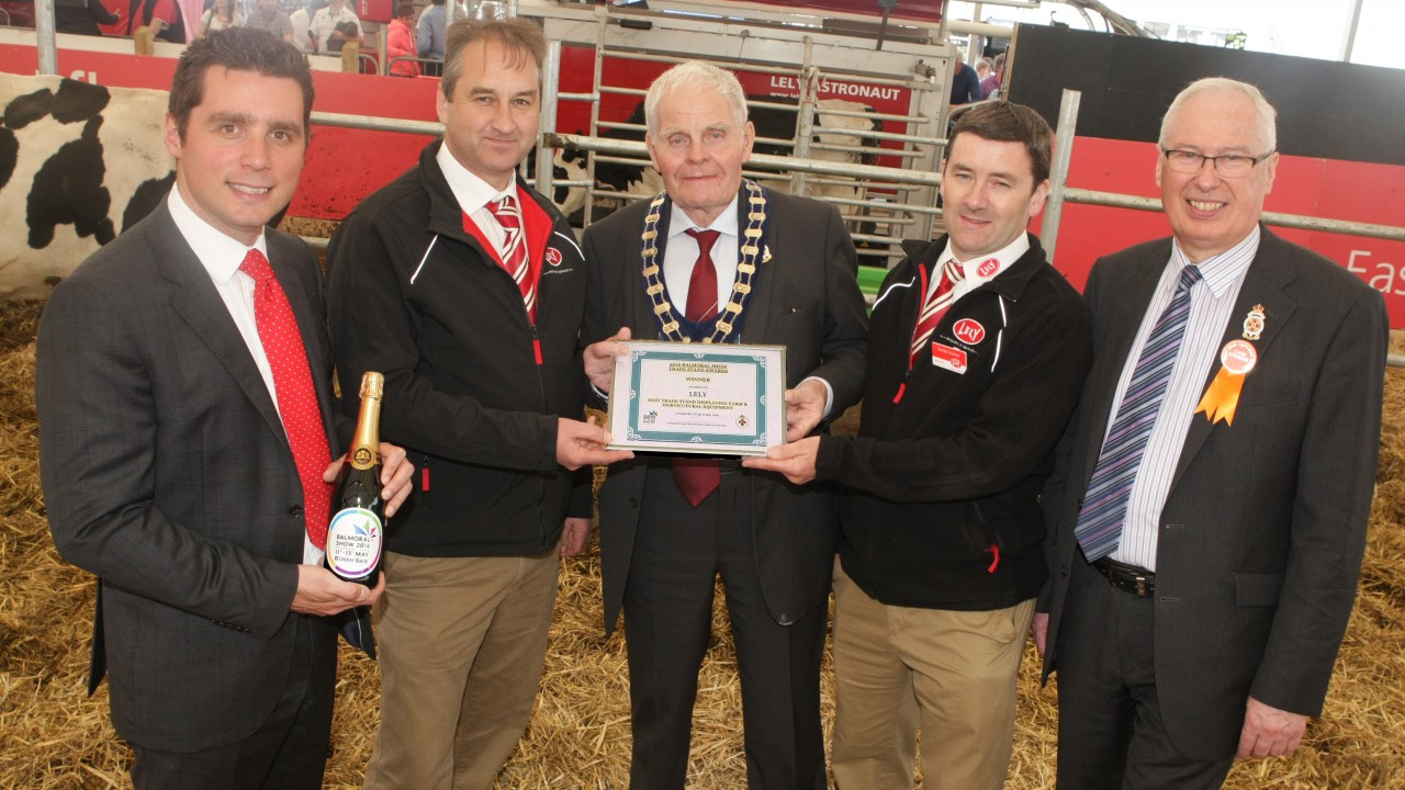Lely wins Best Trade Stand for Farm and Horticultural Machinery at Balmoral
