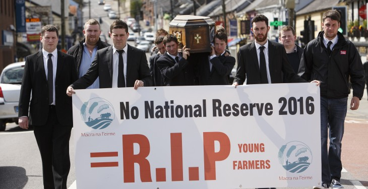 Has Macra na Feirme already attended the National Reserve's wake?