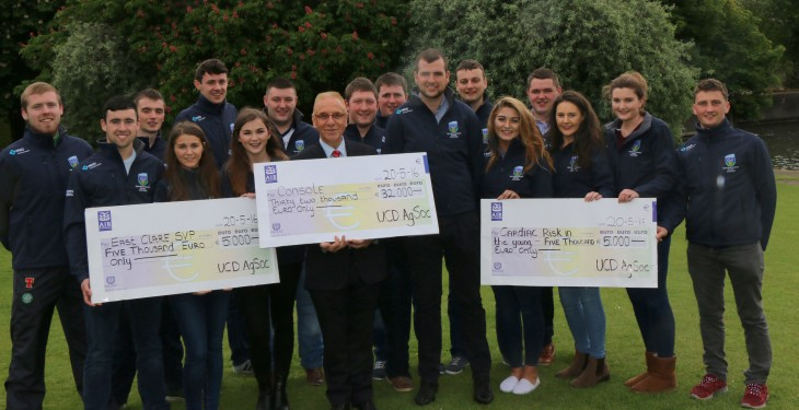 UCD AgSoc donates record €42,000 to three charities